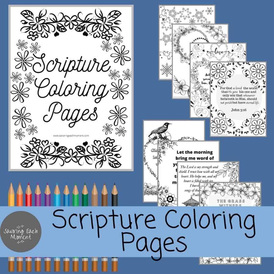 Printable Scripture Coloring Pages - Florals