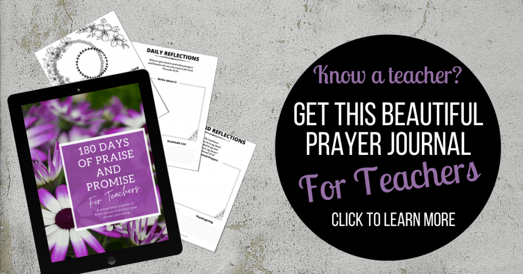printable daily prayer journal displayed on a gray background
