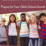 Praying for children in school